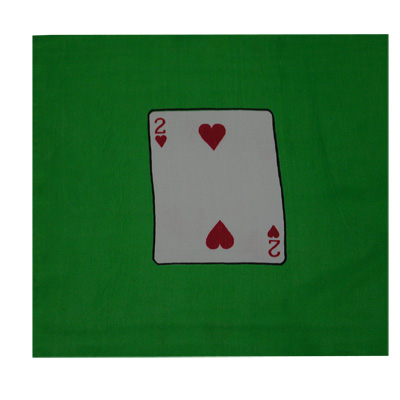 "Card Silk Set 9"" (2 of hearts + blank)"
