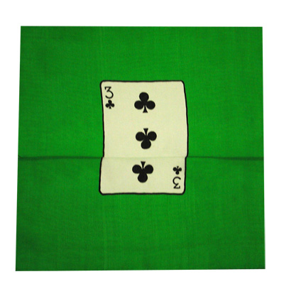 "Card Silk Set 9"" (3 of clubs + blank)"
