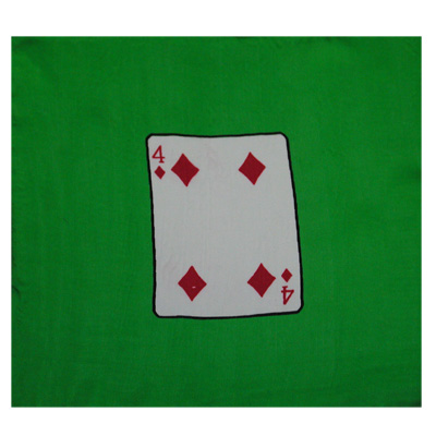 "Card Silk Set 9"" (4 of diamonds + blank) by Vincenzo Di Fatta"