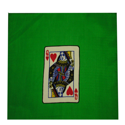 "Card Silk Set 9"" (queen of hearts + blank)"