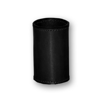 Leather Coin Cylinder (Black, Half Dollar Size)
