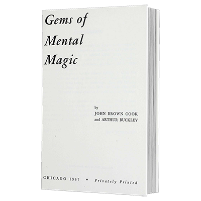 Gems of Mental Magic by Arthur Buckley and The Conjuring Arts Research Center eBook DOWNLOAD