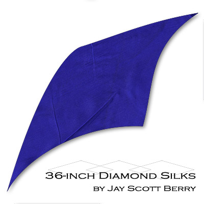"36"" Diamond Silk, 100% Silk (BLUE) by Jay Scott Berry - Tricks"