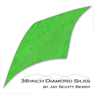 "36"" Diamond Silk, 100% Silk (GREEN) by Jay Scott Berry - Tricks"