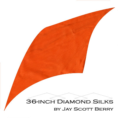 "36"" Diamond Silk, 100% Silk (ORANGE) by Jay Scott Berry - Tricks"