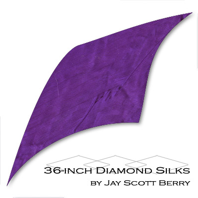 "36"" Diamond Silk, 100% Silk (PURPLE) by Jay Scott Berry - Tricks"