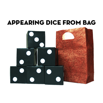Appearing Dice From Bag