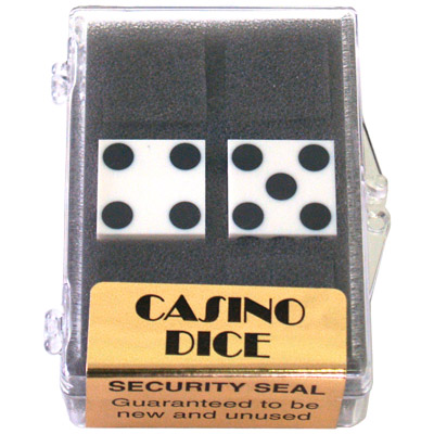 Dice 2-Pack White Precision 19mm (Casino) - Trick