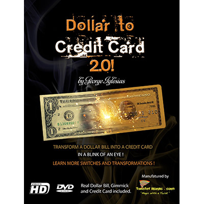 Dollar to Credit Card 2.0 (with DVD) by Twister Magic - Trick