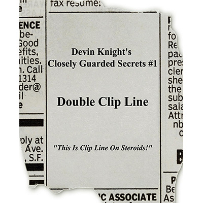 Double Clip Line by Devin Knight - Trick