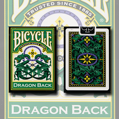 Bicycle Dragon Green by Gamblers Warehouse - Trick