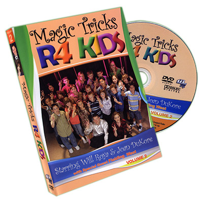 Magic Tricks R 4 Kids Volume 2 by Will Roya & Joan DuKore - DVD
