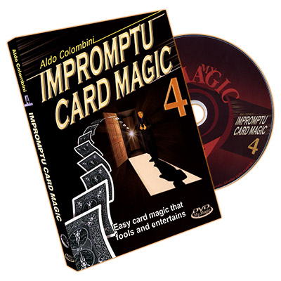 Impromptu Card Magic Volume #4 by Aldo Colombini - DVD