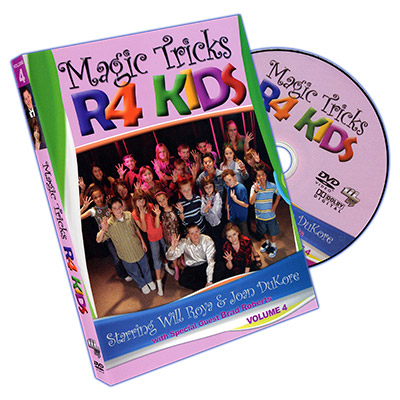 Magic Tricks R 4 Kids - Volume 4 by Will Roya and Joan DuKore - DVD