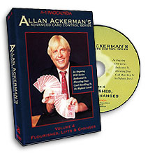 Advanced Card Control Series Vol 4: Flourishes, Lifts, and Changes by Allan Ackerman - DVD
