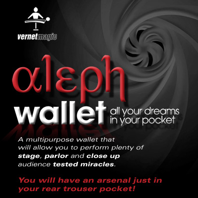 Aleph Wallet (Wallet and DVD) by Vernet Magic - DVD