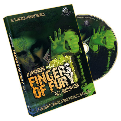 Fingers of Fury Vol.2 (Death By Cards) by Alan Rorrison & Big Blind Media - DVD