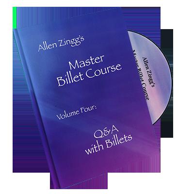 Master Billet Course Q&A With Billets by Allen Zingg - Volume 4 - DVD