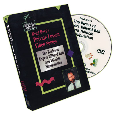 Basics Of Expert Billiard Ball And Thimble Manipulation by Brad Burt - DVD