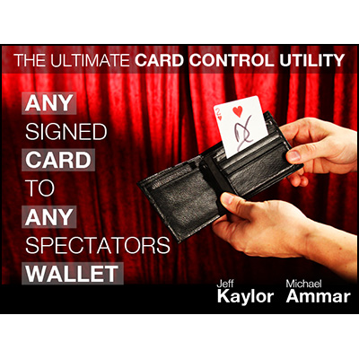 Any Card to Any Spectator's Wallet - BLACK (DVD and Gimmick) By Jeff Kaylor and Michael Ammar - DVD