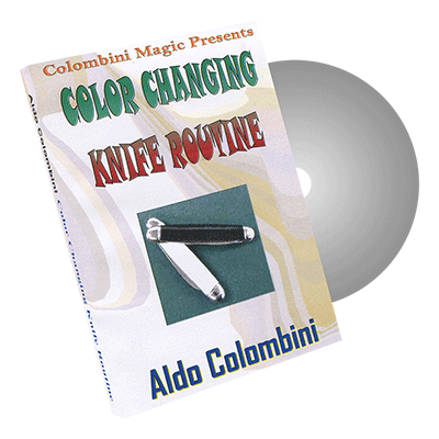 Color Changing Knife Routine by Wild-Colombini Magic - DVD