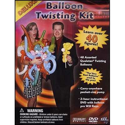 Deluxe Balloon Twisting Kit (w/DVD) by Will Roya - DVD