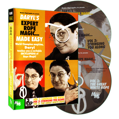 Rope Magic Made Easy (3 volume set) by Daryl & Murphy's Magic Supplies - DVD