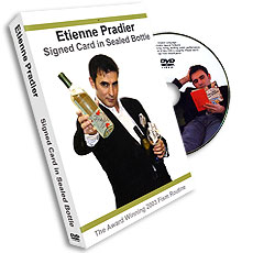 Etienne Pradier Signed Card in Sealed Bottle, DVD