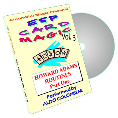 ESP Card Magic (Howard Adams Routines Part 1) Vol. 3  by Aldo Colombini - DVD