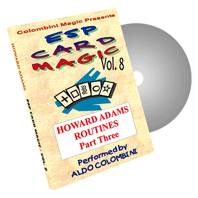 ESP Card Magic (Howard Adams Part 3) Vol. 8 by Aldo Colombini - DVD
