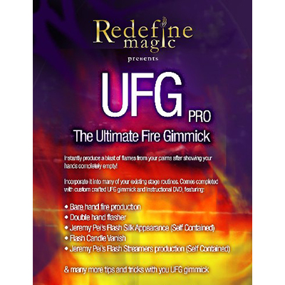 Ultimate Fire Gimmick Pro (Gimmick and DVD) by Jeremy Pei