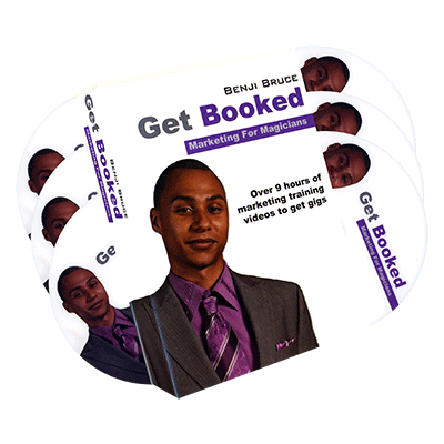 Get Booked Marketing For Magicians 6 DVD set by Benji Bruce - DVD