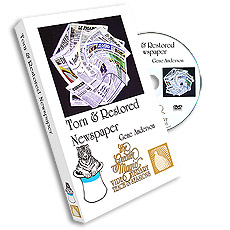 Torn & Restored Newspaper DVD by Gene Anderson Greater Magic,