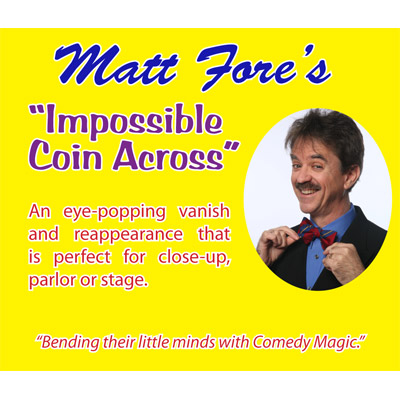 Impossible Coin Across (Props and DVD) by Matt Fore - DVD