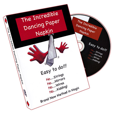 Incredible Dancing Paper Napkin by Scott Francis and David Allen - DVD