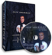 Jeff Sheridan Genius at Work Volume 2 Card Manipulation DVD