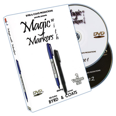 Magic With Markers (2 DVD Set) by James Coats and Nicholas Byrd - DVD