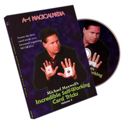 Incredible Self Working Card Tricks Volume 3 by Michael Maxwell - DVD