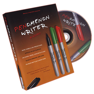 PENomenon Writer (Black, Gimmick and DVD)  by Menny Lindenfeld  and Koontz - DVD