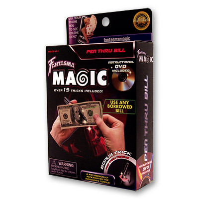 Pen Through Bill by Magick Balay and Fantasma Magic - DVD