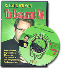 Restaurant Act Paul Wilson, DVD