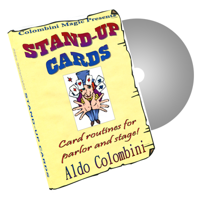 Stand Up Cards by Wild-Colombini Magic - DVD