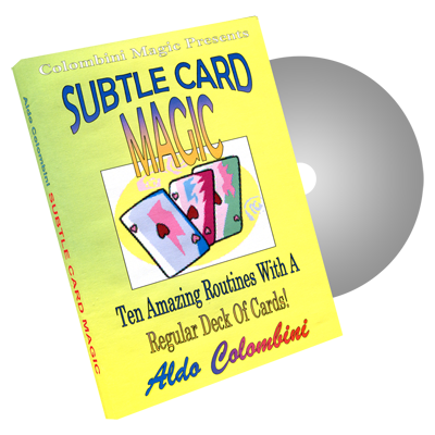 Subtle Card Magic by Wild-Colombini Magic - DVD