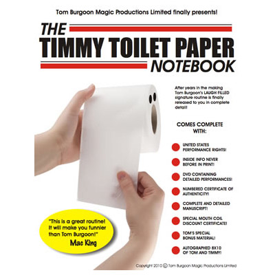 Timmy Toilet Paper Notebook (DVD and Notebook) by Tom Burgoon