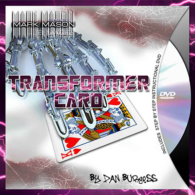 Transformer Card (Blue Card and DVD) by Mark Mason and JB Magic - DVD