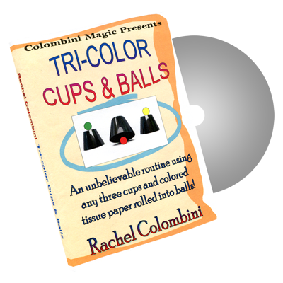 Tri-Color Cups & Balls by Wild-Colombini Magic - DVD