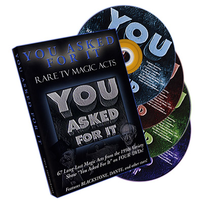 You Asked For It- Rare TV Magic Acts (4 DVD Set) - DVD