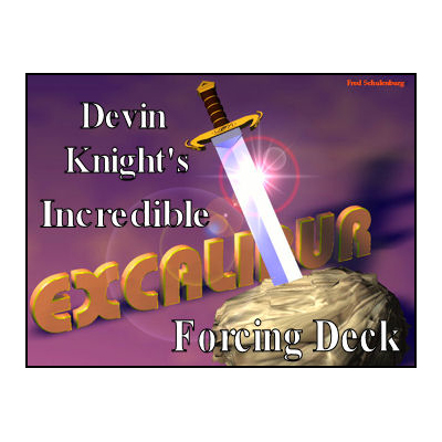 Excalibur Deck (BLUE) by Devin Knight - Trick