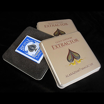 Extractor Blue Cards(Gold Edition) by Rob Bromley and Peter Nardi and Alakazam Magic - Trick
