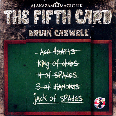 The Fifth Card (DVD and Gimmicks) by Brian Caswell & Alakazam Magic - Trick